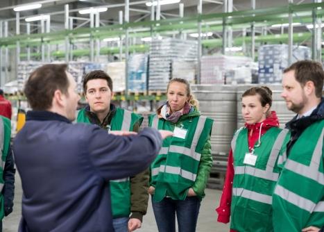 Tag der Logistik 2019 beim DMK Deutsches Milchkontor (u.a. Milram) in Zeven. Foto: BVL/Jan Meier
